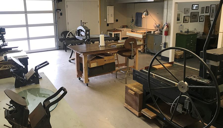 Whiteaker Printmakers lithography room