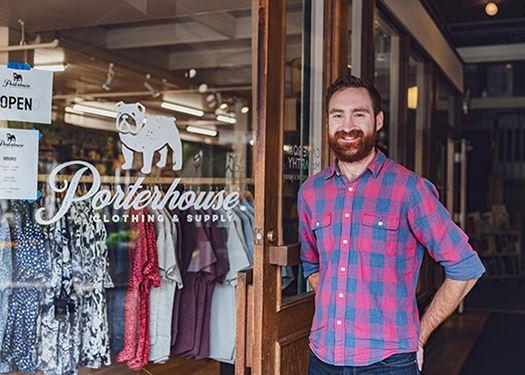 Porterhouse Clothing & Supply owner Ethan Clevenger