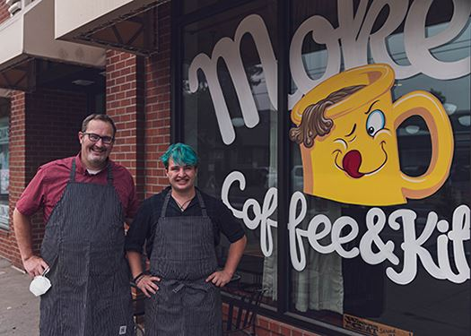 Moke's Coffee & Kitchen owners Mike Coplin and his son, Ian Coplin.