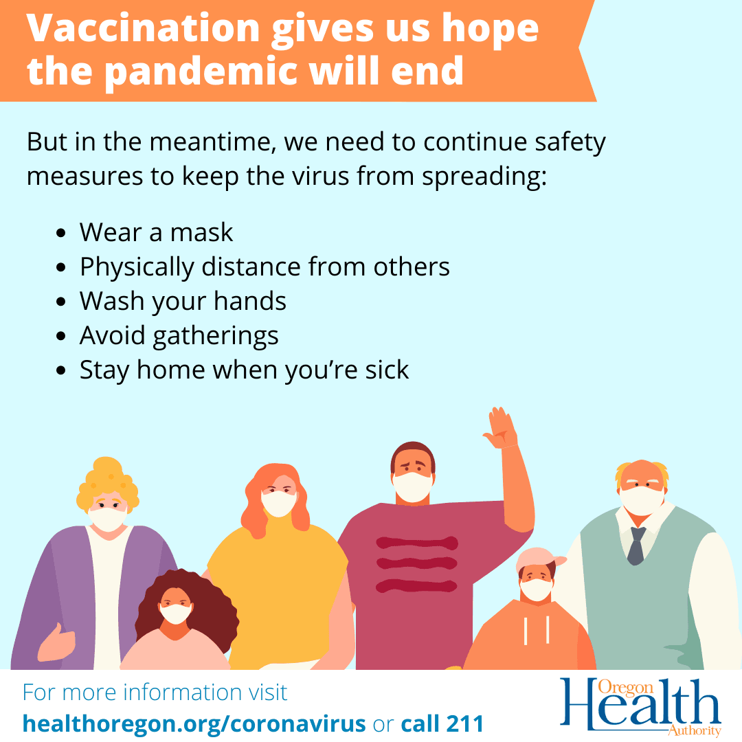 Vaccination gives us hope the pandemic will end.