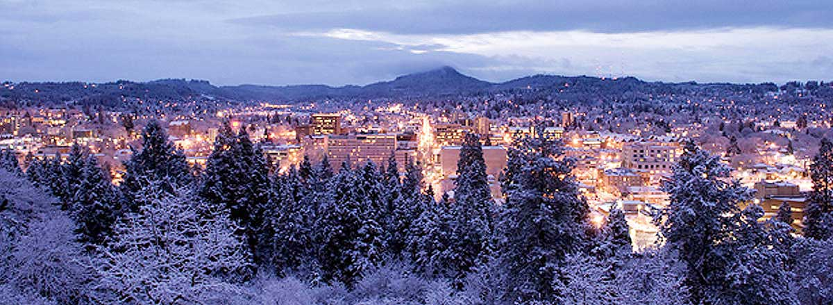 Eugene Winter Skyline