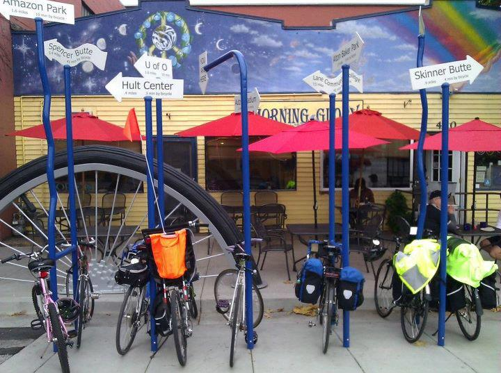 Big Wheel Bike Corral at Morning Glory