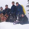 group of snowshoers pose