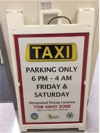 Taxi Cab Pick Up Sign