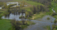 Aerial view of Bertelsen Nature park