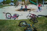 Children playing in Berkely park