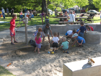 Children playing in the sand