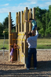 Children playing at Irwin Park