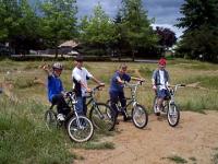 Boys bicycling