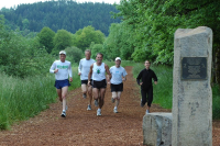 Runners in Amazon Park