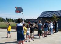 Basketball players at Cal Young