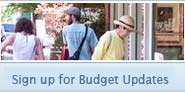 sign up for budget updates