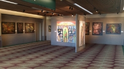 Betty LaDuke exhibit inside the Gallery At The Airport