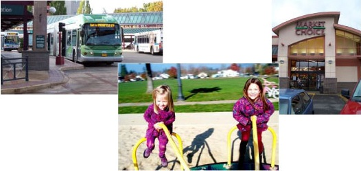 A convenient bus service, playground and a neighborhood grocery