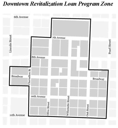 Eugene, OR Website - Downtown Revitalization Loan Program