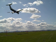 Airplane takes off from Eugene
