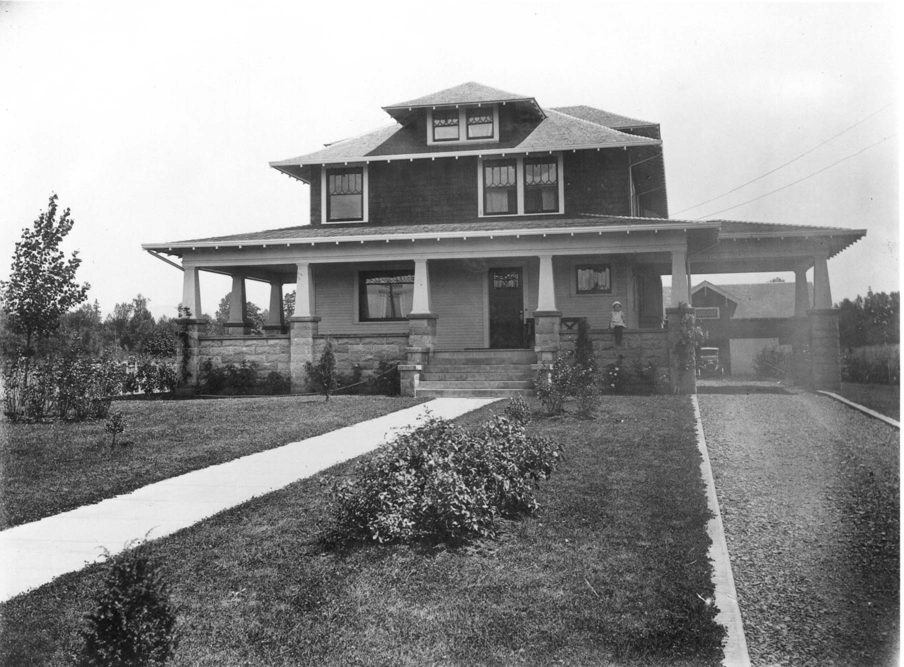 Historic photo of a craftsman style residence