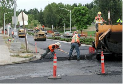 Street paving construction
