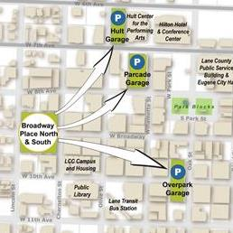 Map of alternative to Broadway North Garage