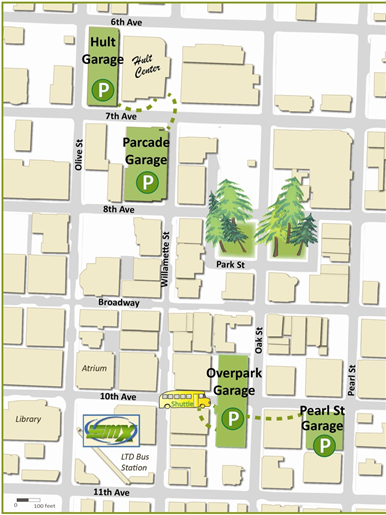 Downtown and event parking map